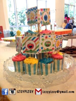 cupcake topper sesame street malaysia