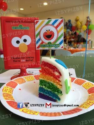 sesame street rainbow cake malaysia