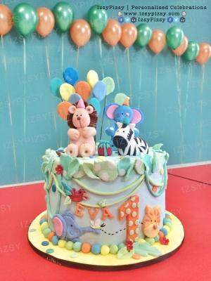 balloon safari birthday cake malaysia
