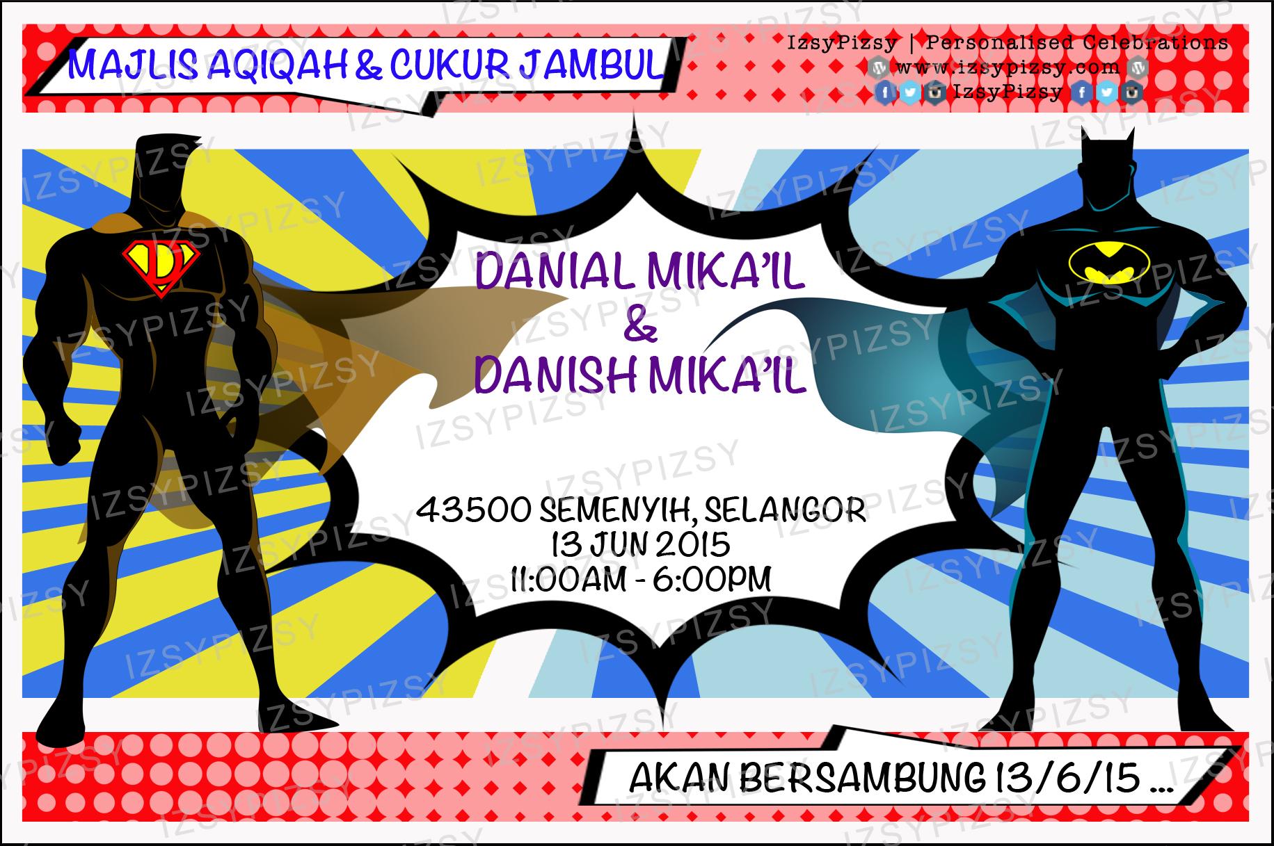 Gmail batman theme - Batman Superman Invitation Card