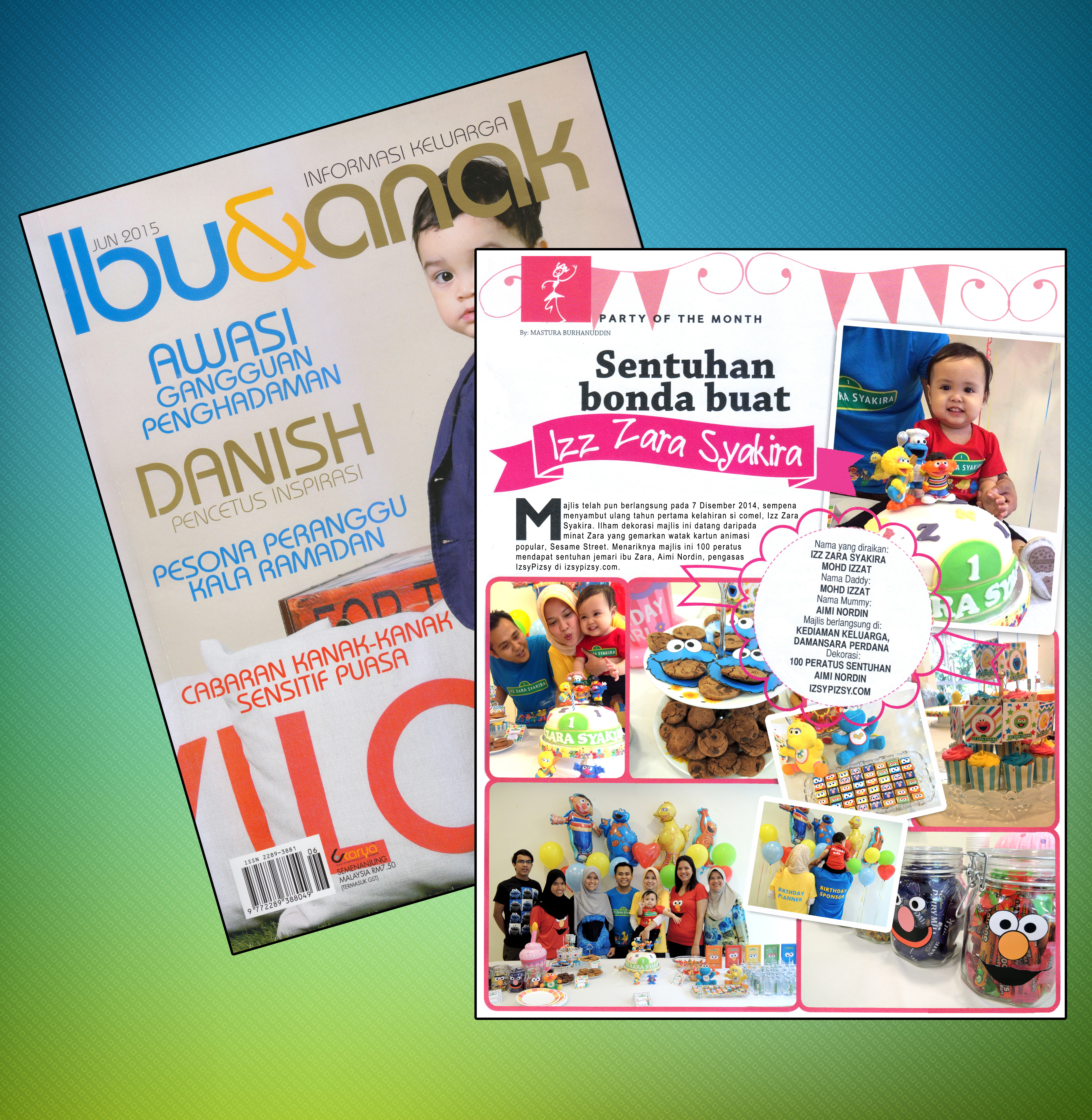 party planner malaysia feature in magazine
