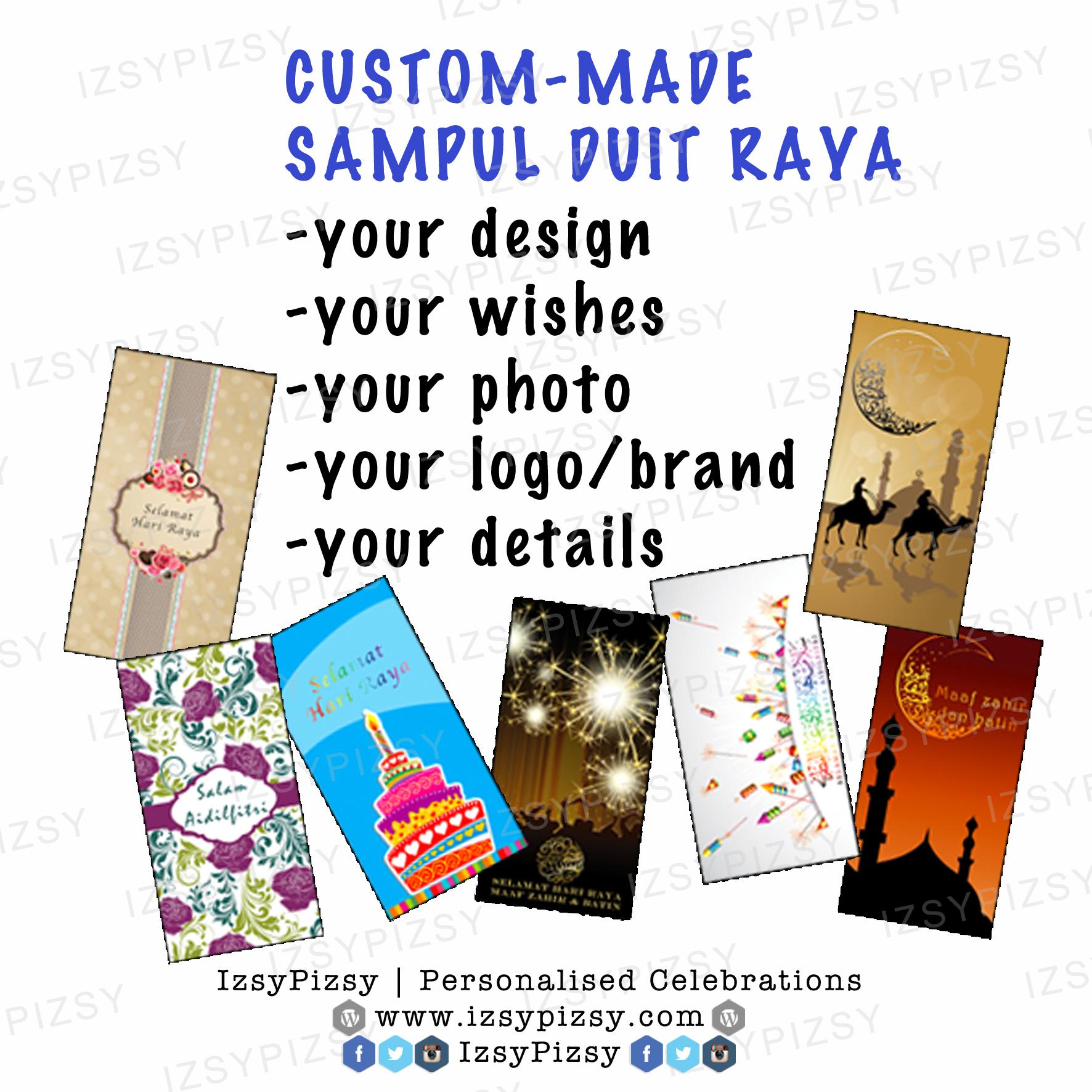 Custom-made Sampul Duit Raya
