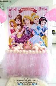 disney-princess-belle-cinderella-snow-white-rapunzel-beauty-and-the-beast-pink-birthday-banner-backdrop-rent-sewa-tutu-table-skirting