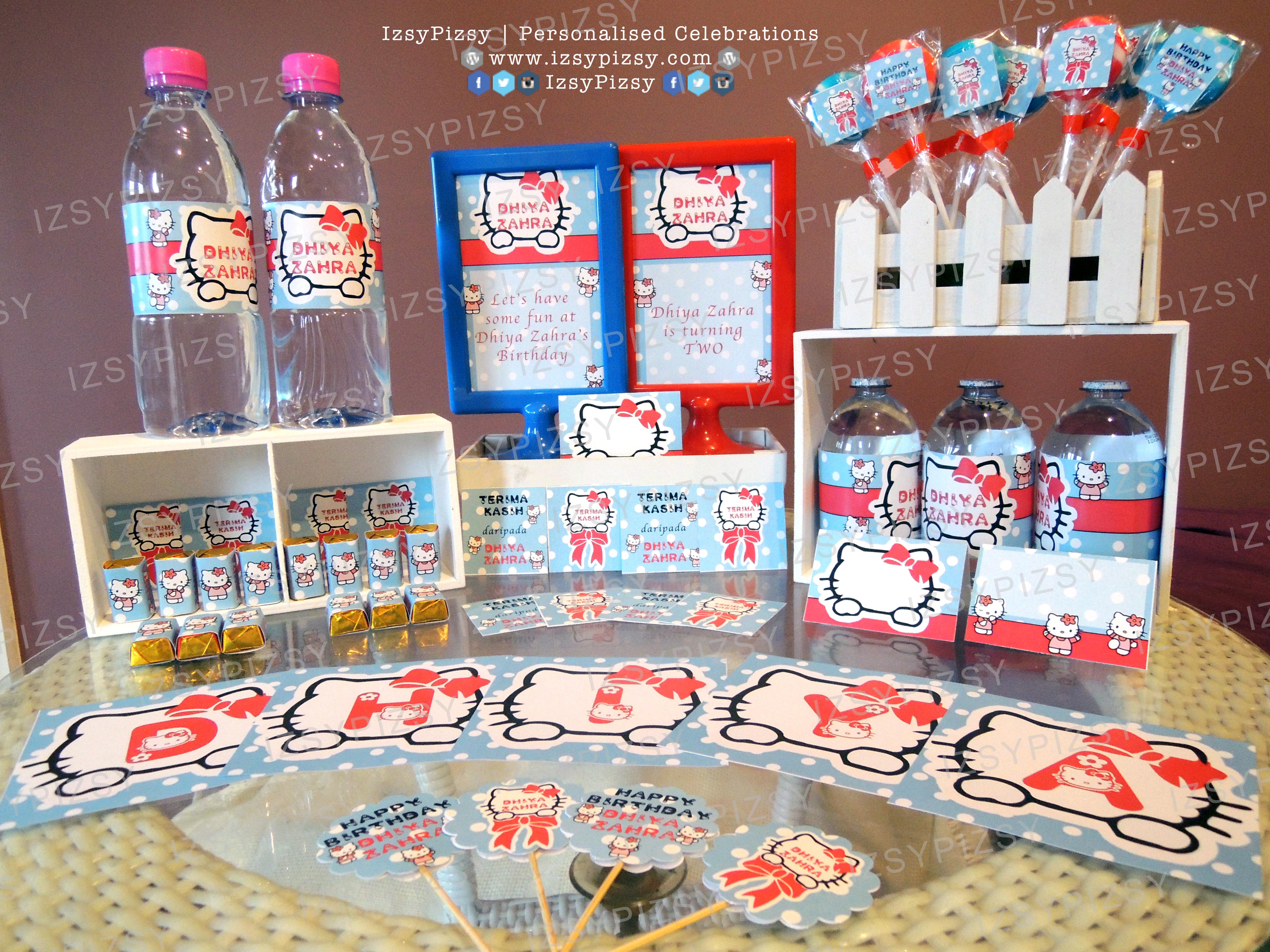 Hello Kitty theme for Dhiya Zahra's 2nd Birthday Party.