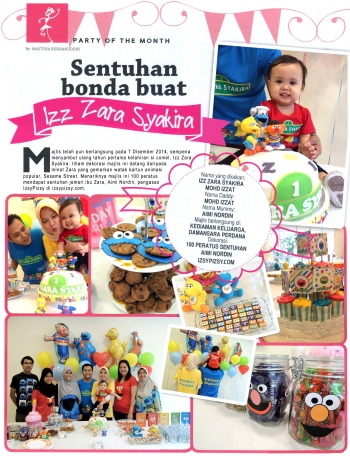 party planner feature in Ibu Anak magazine