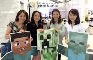minecraft-birthday-party-idea-malaysia-murah-cheap-doorgift-standee-steve-creeper-zombie