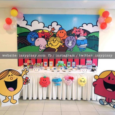 mr-men-and-little-miss-and-friends-birthday-ideas-candy-buffet-backdrop-banner-standee-toy-balloons-malaysia-rent-sewa-murah