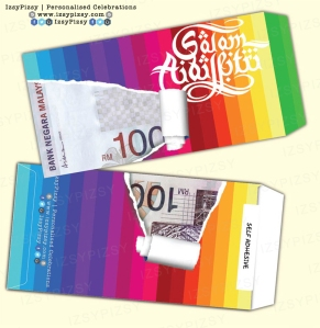 sampul duit raya 2015 rainbow stripes