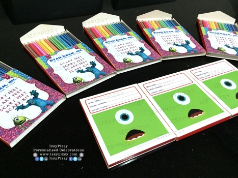 monster inc university mike wazowski james sullivan sulley boo colouring crayon pencil stationery set activity games sheet book birthday party pack goodie bag supply malaysia