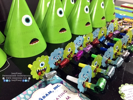 monster inc university mike wazowski james sullivan sulley boo personalised poster bunting flag banner alphabet birthday party pack goodie bag supply malaysia blower plain hat