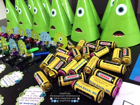 monster inc university mike wazowski james sullivan sulley boo personalised poster bunting flag banner alphabet birthday party pack goodie bag supply malaysia mentos wrapper personalise hat