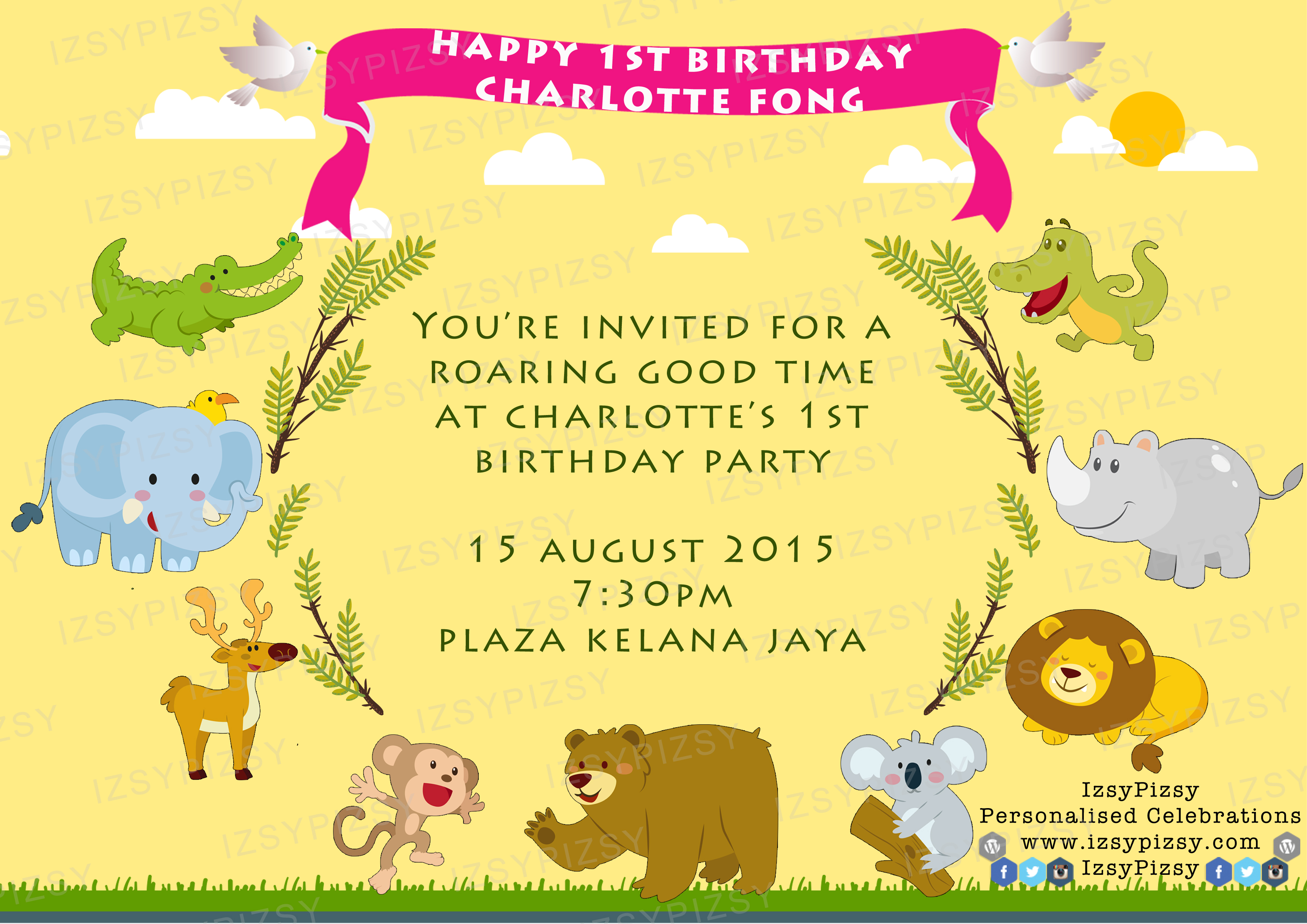 Zoo animals themed birthday party