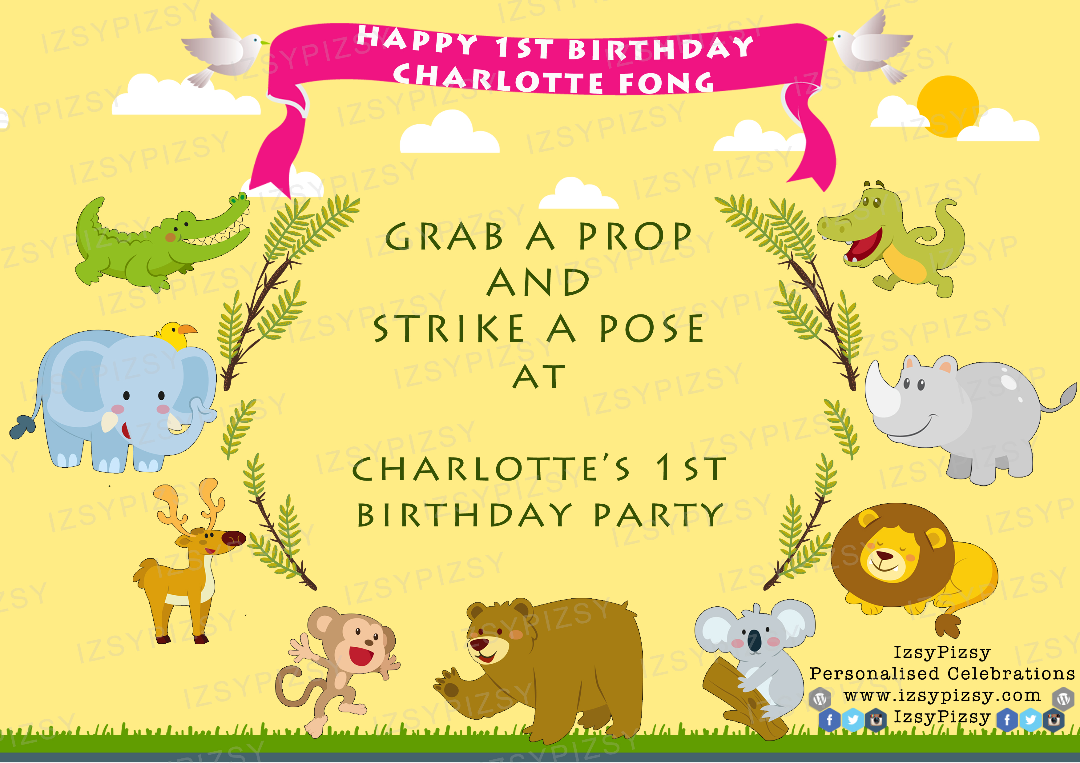 Safari Jungle Theme Birthday Party IzsyPizsy