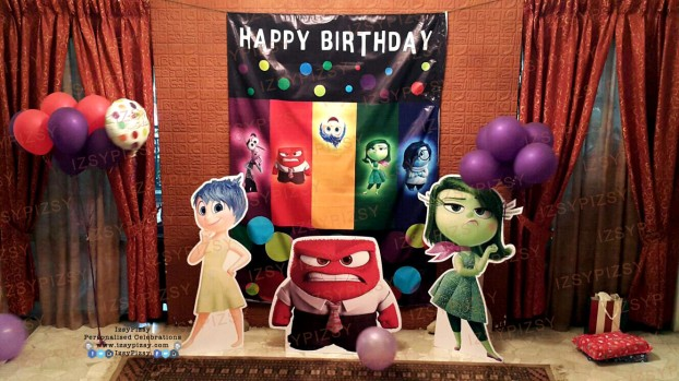 inside out joy anger sadness disgust fear riley bing bong life size standee pop up banner backdrop birthday party printables idea supply malaysia balloons