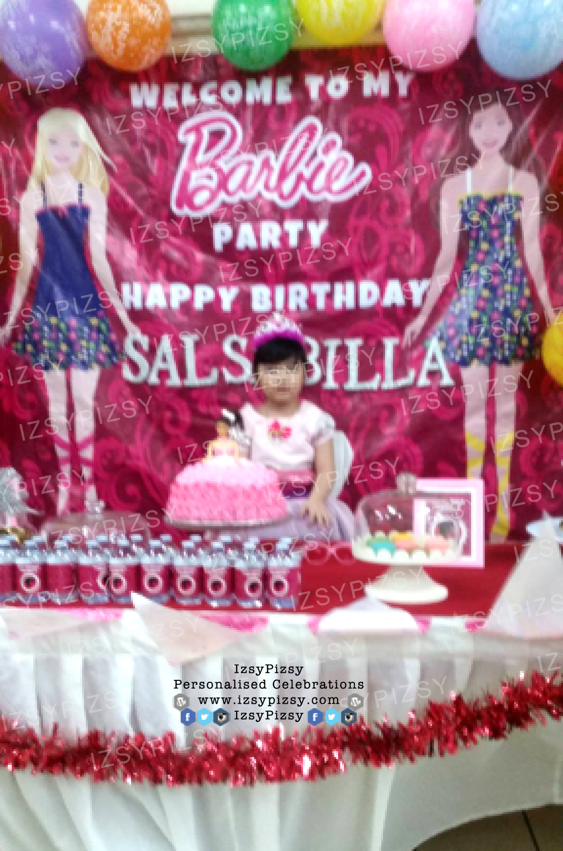 Pink Vintage Barbie Themed Birthday Party IzsyPizsy