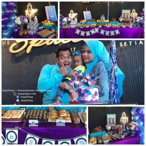 alif-satar-selamanya-cinta-suri-hati-mr-pilot-official-launch-sign-card-fattah-amin-neelofa-warda-ejaz-anak-baby-birthday-anniversary-candy-buffet-balloon-malaysia-blue-purple-theme