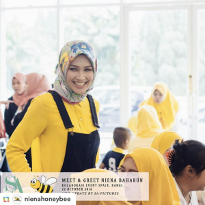 niena-baharun-honeybee-teman-pengganti-sayangku-kapten-mukhriz-raja-afiq-bumble-bee-theme-yellow-black-malaysia-party-event-planner-grand-entrance