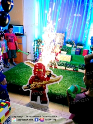 lego ninjago movie theme birthday party ideas supplies macaron dessert candy buffet malaysia standee life cut out fireworks candle props decoration rent sewa